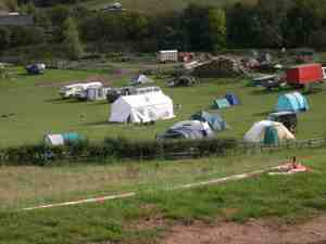 Our 'tranquil' campsite