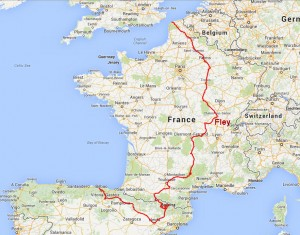 France-Spain2014 entire route_Fley